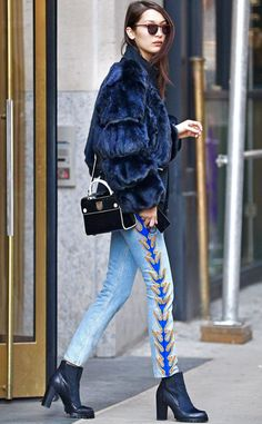 Bella Hadid in NYC. -