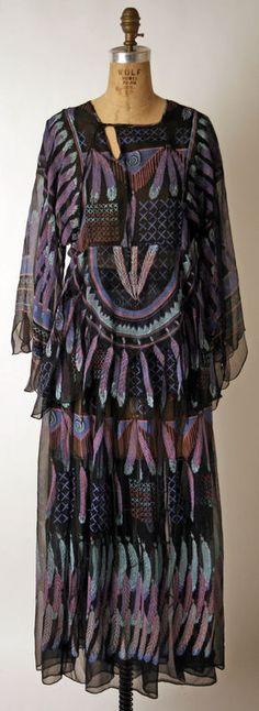 feathers // Zandra Rhodes dress, 1971