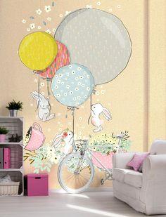 Wallpaper for baby room. Kids RoomRabbits.