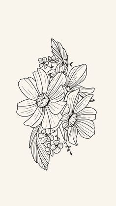 Tattoo design inspiration — line work florals. Procreate for iPad Pro. Floral Illustrations, Illustration Art, Floral Tattoo Design, Tattoo Floral, Design Tattoos, Line Art Flowers, Dibujos Tattoo, Temporary Tattoo Designs, Flower Sketches