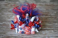 4th of July bow SALE FREE SHIPPING by LittleGemsbyJenT on Etsy, $12.00