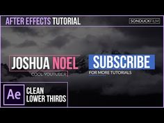 After Effects Tutorial: Clean Modern LOWER THIRDS - YouTube