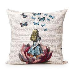 ALICE IN WONDERLAND PILLOW | Book pillow | $54