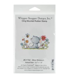 Add beautiful stamped images to your creative projects with the Whipper Snapper Designs Cling Stamp. Crafted from high-quality rubber and exhibiting a lovely design, it makes a great addition to your