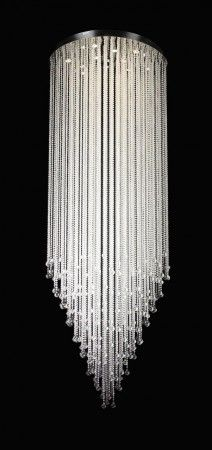 Modern Rain Drop Chandelier With Crystal Balls 47