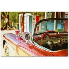 Trademark Fine Art Classic Car Canvas Art by Philippe Hugonnard, Size: 12 x 19, Green