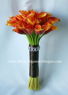 burnt orange calla lily wedding bouquets | Для того чтобы оставить свой ...