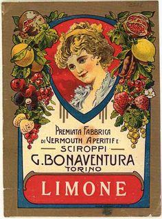 etichetta vermouth - prodotti alimentari delle industrie piemontesi - 1900-1950