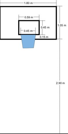 dimensions for half court basketball feet is just inside the rh pinterest com Basketball Hoop Pad Basketball Court Diagram