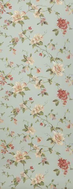 Liberty rose et gris - Papier peint Lutèce #flowers #grey #romance ...