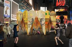Collective-LOK Designs Mirrored, Ring of Hearts Pavilion for Times Square