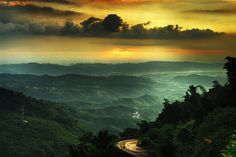 beautiful, cloud, clouds, forest, green, landscape, nature, road, sky, sunset, taiwan, tree, trees