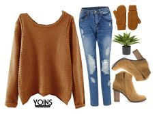 """""""#yoins"""" by credentovideos ❤ liked on Polyvore featuring Nearly Natural, Monki, women's clothing, women's fashion, women, female, woman, misses and juniors"""