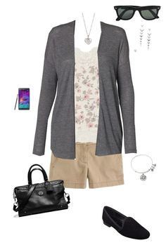 """lunch with momy OOTD 09/12/2015"" by ladykbaez on Polyvore featuring J.Crew, Dorothy Perkins, Vero Moda, Ray-Ban, Alex and Ani, Stella & Dot, Samsung, Coach, Nine West and Finn"