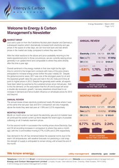 energy-carbon-management-newsletter-march-2012 by EnergyandCarbonManagement via Slideshare