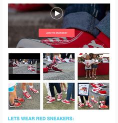 Red Sneakers for Oakley featured in the @KaraRoss Unleashed Newsletter #redsneakersforoakley #foodallergyawareness
