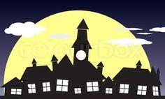 london village silhouette - Google Search