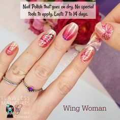 100% Nail polish strips at go on dry, no tools necessary to apply.