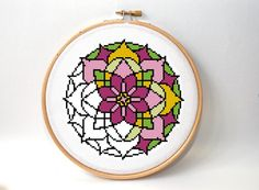 Cross stitch pattern  mandala design  modern by XOstitch on Etsy