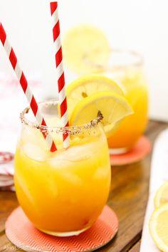 Spiked Chili Mango Lemonade: A sweet refreshing twist on summer lemonade. The fusion of mango, chili powder, hot sauce, and white rum add a fun summer twist.