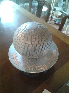Disco glitter ball cake