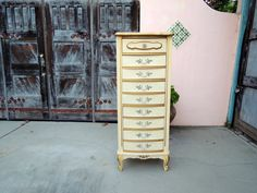 Mid Century Modern French Provincial Tall 5 Drawer Dresser Los Angeles by HouseCandyLA, $250.00