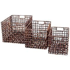 3 Piece Yuma Basket Set - I have sort of an obsession with baskets!