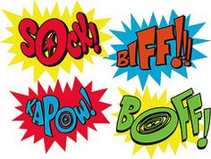 Superhero Words Pow Bam | holy wall decals! (robolove3000) Tags: word sticker sock comic balloon ...