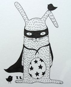 rabbit illustration | konijn illustratie | kinderkamer | kids room www.kinderkamervintage.nl