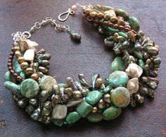Bead Lover's Torsade - No4/Imperial Jasper, Turq, FWPearls, Crystals | miabellacollection-jewelry - Jewelry on ArtFire