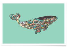 Whale as Premium Poster by Ninhol | JUNIQE