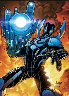 Blue Beetle by Tonywash on deviantART Comic Book Characters, Marvel Characters, Comic Character, Comic Books Art, Comic Art, Dc Comics Heroes, Arte Dc Comics, Teen Titans, Arte Nerd