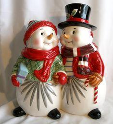 *SNOW-COUPLE ~ Cookie Jar, Waterford cookie jars, Department 56