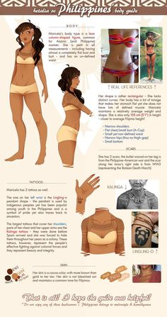Philippines' Body Guide by kamillyanna on DeviantArt Philippine Women, Philippine Art, Filipino Art, Filipino Culture, Philippines Tattoo, Alibata, Philippine Mythology, Character Inspiration, Character Design