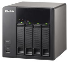Low cost 4-bay NAS from QNAP. The QNAP TS-412 Storage Server. http://www.transparent-uk.com/qnap-ts-412-storage-server.html