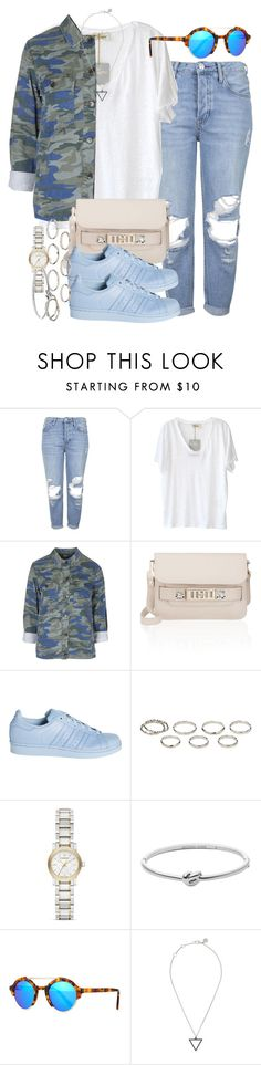 """""""Sin título #3676"""" by hellomissapple ❤ liked on Polyvore featuring Topshop, American Vintage, Proenza Schouler, adidas, Akira, Burberry, Michael Kors, Illesteva and Marc by Marc Jacobs"""