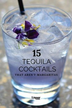 15 Amazing Tequila Cocktails That Aren't Margaritas: Your old favorite tequila drink has some delicious competition. 15 Amazing Tequila Cocktails That Aren't Margaritas: Your old favorite tequila drink has some delicious competition. Fancy Drinks, Bar Drinks, Cocktail Drinks, Alcoholic Drinks, Cocktail Tequila, Paloma Cocktail, Mixed Drinks With Tequila, Easy Tequila Drinks, Tequila Shots