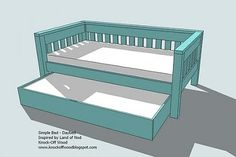 Trundle plans for under the kids' beds