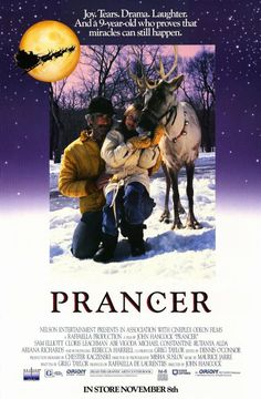 Prancer , starring Sam Elliott, Cloris Leachman, Rutanya Alda, Abe Vigoda. Jessica, the daughter of an impoverished farmer, still believes in Santa Claus. So when she comes across a reindeer with an injured leg... #Drama #Family #Fantasy