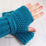 I designed this pattern at the request of my friend, Liz. She loves the Herringbone HDC stitch and asked me to incorporate it into some fingerless gloves. Since