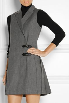 Marc by Marc Jacobs : Pleated wool mini dress