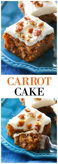 Moist Carrot Cake - super moist carrot cake that full of flavor. http://the-girl-who-ate-everything.com
