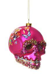 Sublime Skull Ornament Pink