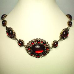 Anne Boleyn Red Flower Necklace Strand » The Anne Boleyn Files