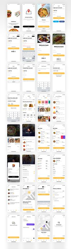 Gusto UI Kit is an ordering and delivery application from restaurants near you in your town Available for iPhone X, 11 Pro , 8 Our top priority was to create a system that reduces the time it takes to build a similar application In addition to support programs Figma, Sketch and XD The version comes with a separate system of fonts, colors and icons in addition to the rich component library You can modify, add and upgrade with ease and less time Design Sites, Web Design, App Ui Design, User Interface Design, Mobile Application Design, Mobile Ui Design, Android App Design, App Design Inspiration, Mobile App Ui