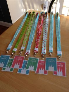 Youth temple recommend lanyards