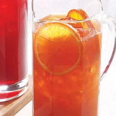 Orange-Earl Grey Iced Tea - Earl grey tea, 4cps cold water, 4cps boiling water, 3/4 cp OJ, rind of one Orange, 1/4 cp sugar or to your taste.