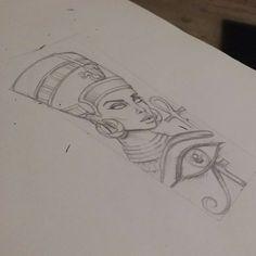 queen nefertiti tattoo design tat ideas pinterest tattoo ideen gypten tattoo und tattoo. Black Bedroom Furniture Sets. Home Design Ideas