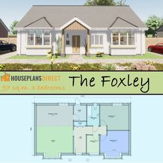 3 Bedroom Bungalow, Countryside Style, Email Design, Bungalow Designs, House Plans, Shed, Floor Plans, Cottage, Outdoor Structures