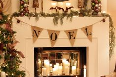 NOEL mantel decor